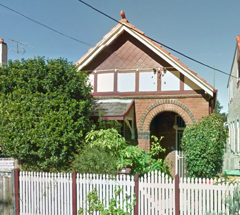 Malcolm Turnbull's first house in Newtown. Google Earth