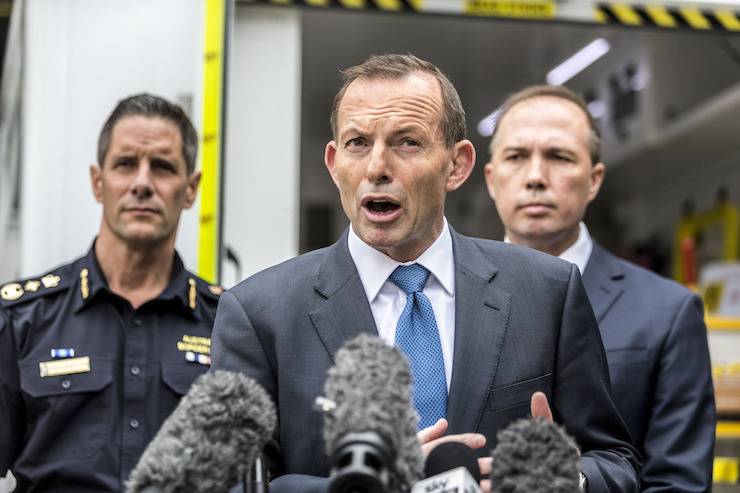 tony abbott peter dutton announce the border force