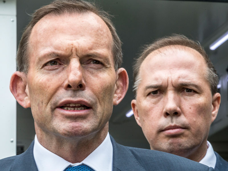 Mr Dutton was a close ally of Tony Abbott. Photo: AAP