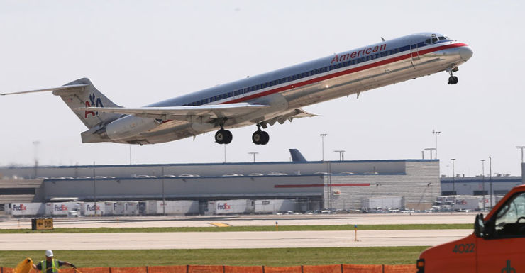 An American Airlines aircraft.