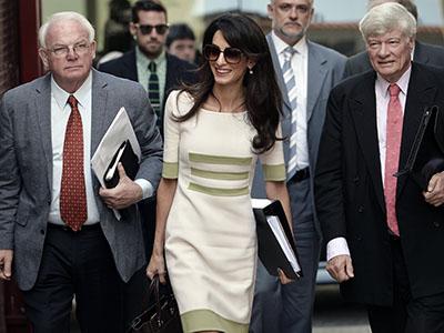 Amal Clooney work attire dress