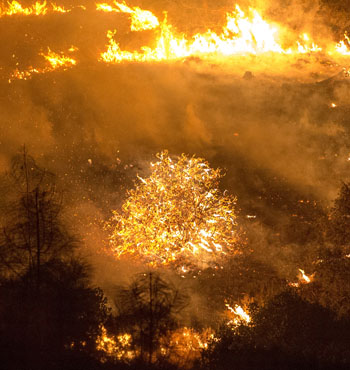 The Rocky fire near Clear Lake, California, has charred more than 27,000 acres.