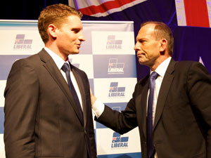 """Tony Abbott expects a """"blitz"""" from Labor in the final weeks of the Canning by-election race. Photo: AAP"""