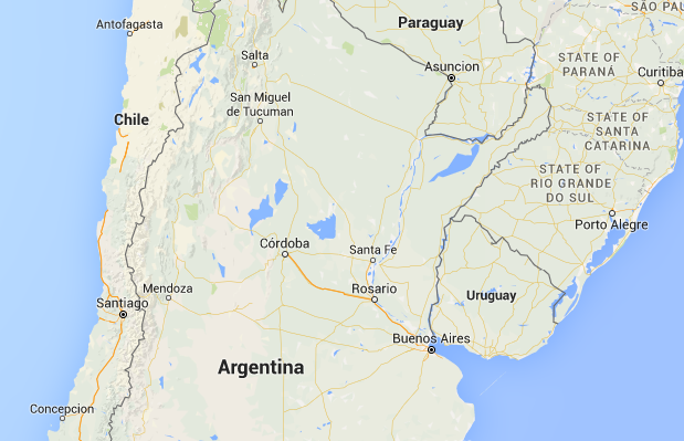 Epicentre located about 500km north of the capital Santiago.