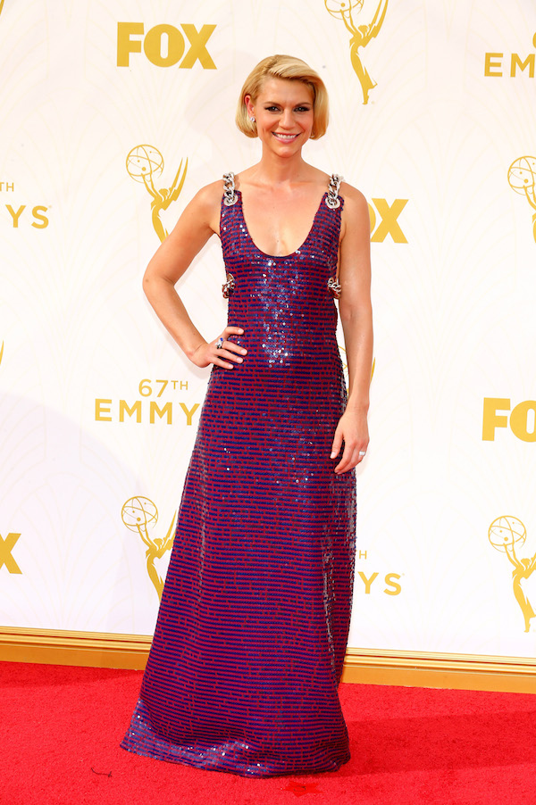 LOS ANGELES, CA - SEPTEMBER 20: Actress Claire Danes attends the 67th Annual Primetime Emmy Awards at Microsoft Theater on September 20, 2015 in Los Angeles, California. (Photo by Mark Davis/Getty Images)