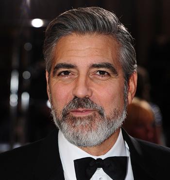 George Clooney's 'silver fox' full beard is a popular choice.