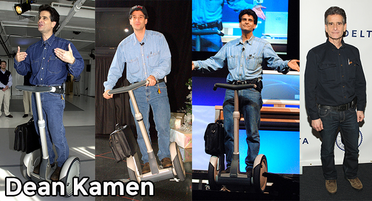 Segway founder Dean Kamen always wears double denim. Photos: Getty