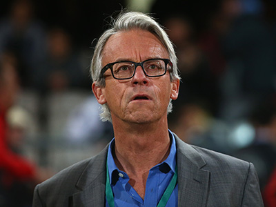 SYDNEY, AUSTRALIA - SEPTEMBER 01: FFA CEO David Gallop watches on during the FFA Cup Round of 16 match between Rockdale City Suns and Melbourne Victory at WIN Jubilee Stadium on September 1, 2015 in Sydney, Australia. (Photo by Mark Kolbe/Getty Images)