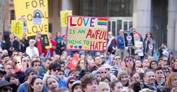gay marriage rally sydney