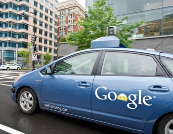 A Google self-driving car as it maneuvers through the streets of in Washington, DC. Photo: AAP