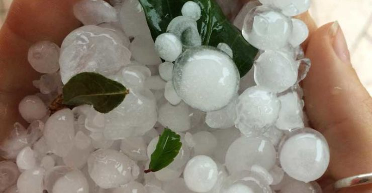 Hail storm in Grafton, New South Wales Sept 17
