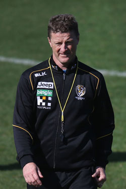 The Tigers should stick with Hardwick - regardless of result. Photo: Getty