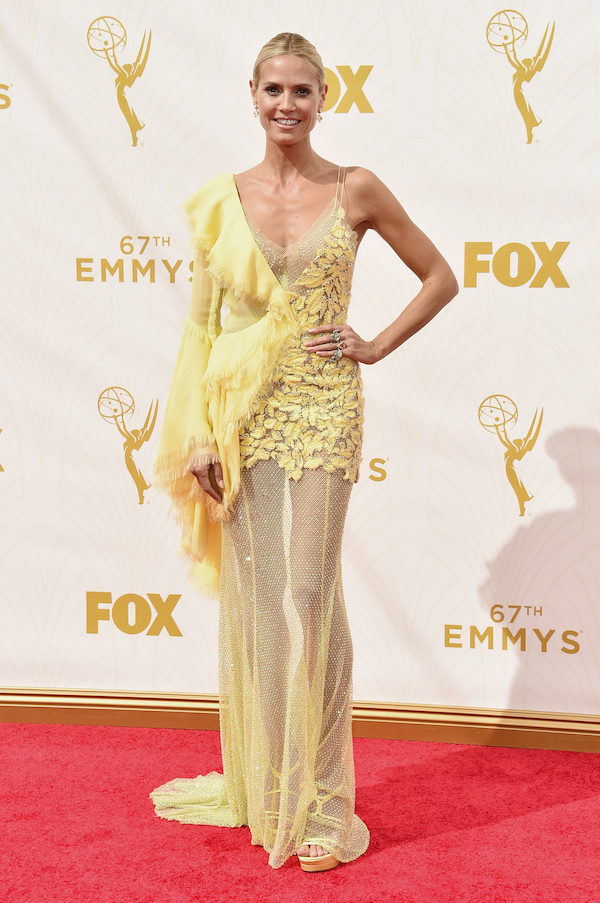 LOS ANGELES, CA - SEPTEMBER 20: TV personality Heidi Klum attends the 67th Emmy Awards at Microsoft Theater on September 20, 2015 in Los Angeles, California. 25720_001 (Photo by Alberto E. Rodriguez/Getty Images for TNT LA)