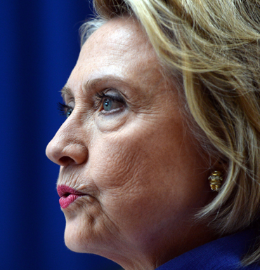 Hillary cannot be happy. Photo: Getty