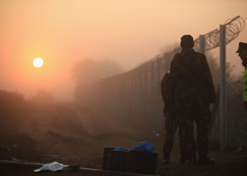 Hungary is constructing a fence along its border with Serbia. Photo: Getty