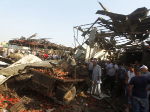 Armed conflict in Iraq has left part of the country, including this Baghdad market, in ruins. Photo: Getty