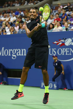 Kyrgios at least fought well in the third set. Photo: Getty