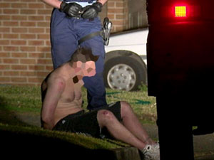 The 35-year-old man was subdued and arrested close to the scene. Photo: ABC
