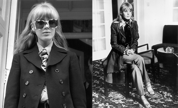 The goal is to channel Marianne Faithfull – in small doses. Photos: Getty