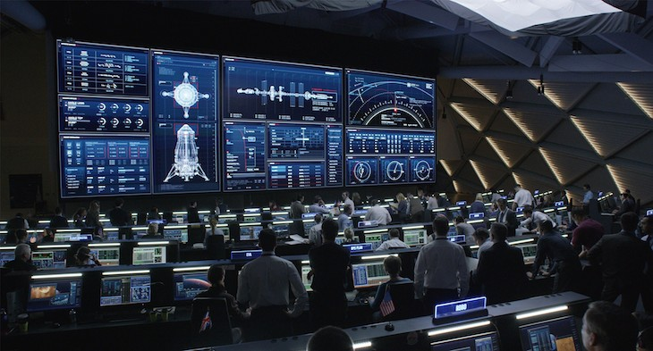 "Much of the film takes place inside NASA's ""headquarters""."
