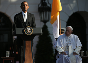 President Obama agrees with the Pope on climate change. Photo: Getty