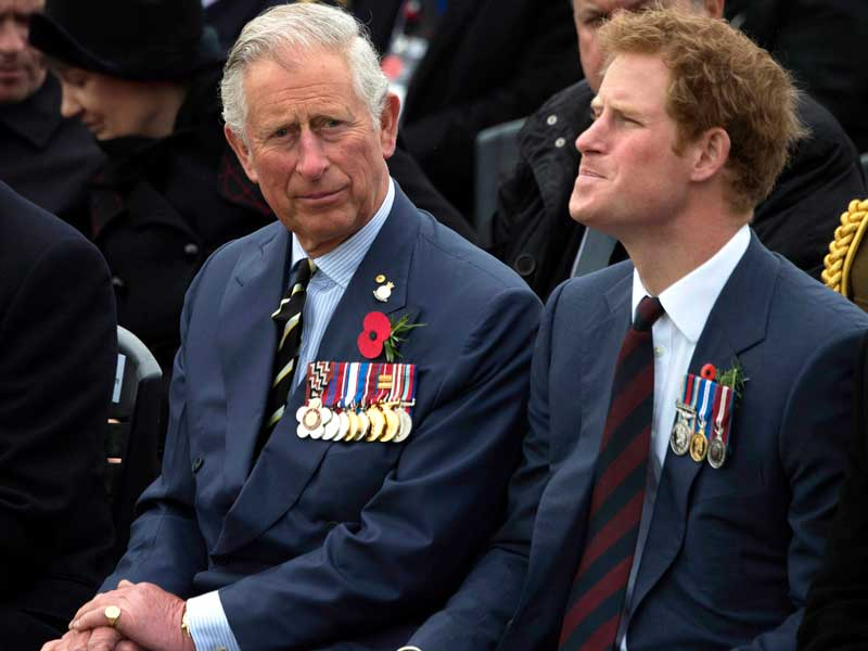 Prince Charles and Prince Harry at Gallipoli Ceremony