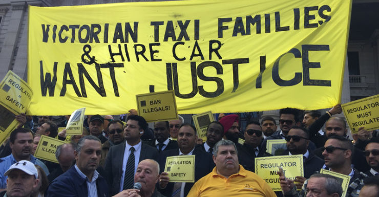 Taxi drivers want UberX to be regulated.