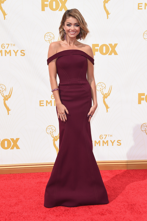 LOS ANGELES, CA - SEPTEMBER 20: Actress Sarah Hyland attends the 67th Annual Primetime Emmy Awards at Microsoft Theater on September 20, 2015 in Los Angeles, California. (Photo by Jason Merritt/Getty Images)
