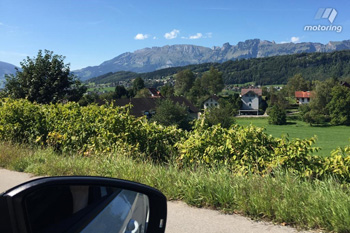 The Austrian alps provided the perfect backdrop for a vehicle test.