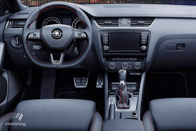 The Octavia's interior could be sportier.