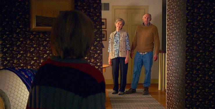 Deanna Dunagan and Peter McRobbie play the disturbed grandparents.