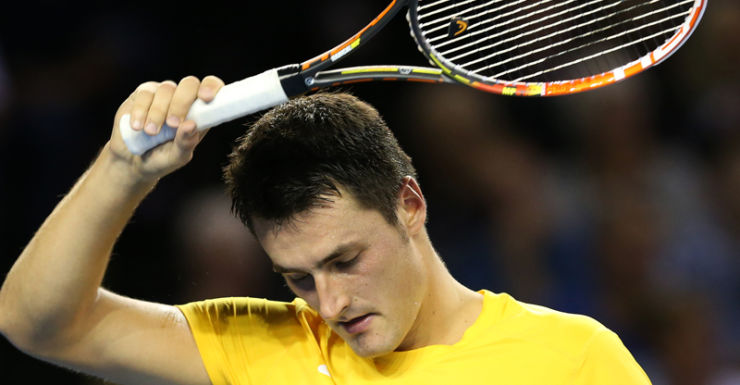 Bernard Tomic by disappointed with the loss. Getty.