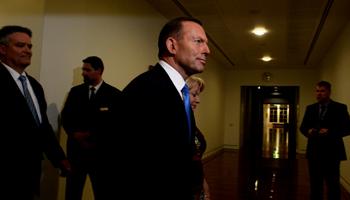 Tony Abbott has not been seen publicly since he was deposed. Photo: AAP