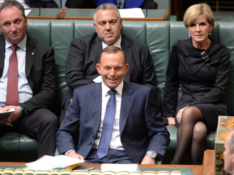 Mr Abbott has walked in eight previous poll results. Photo: AAP
