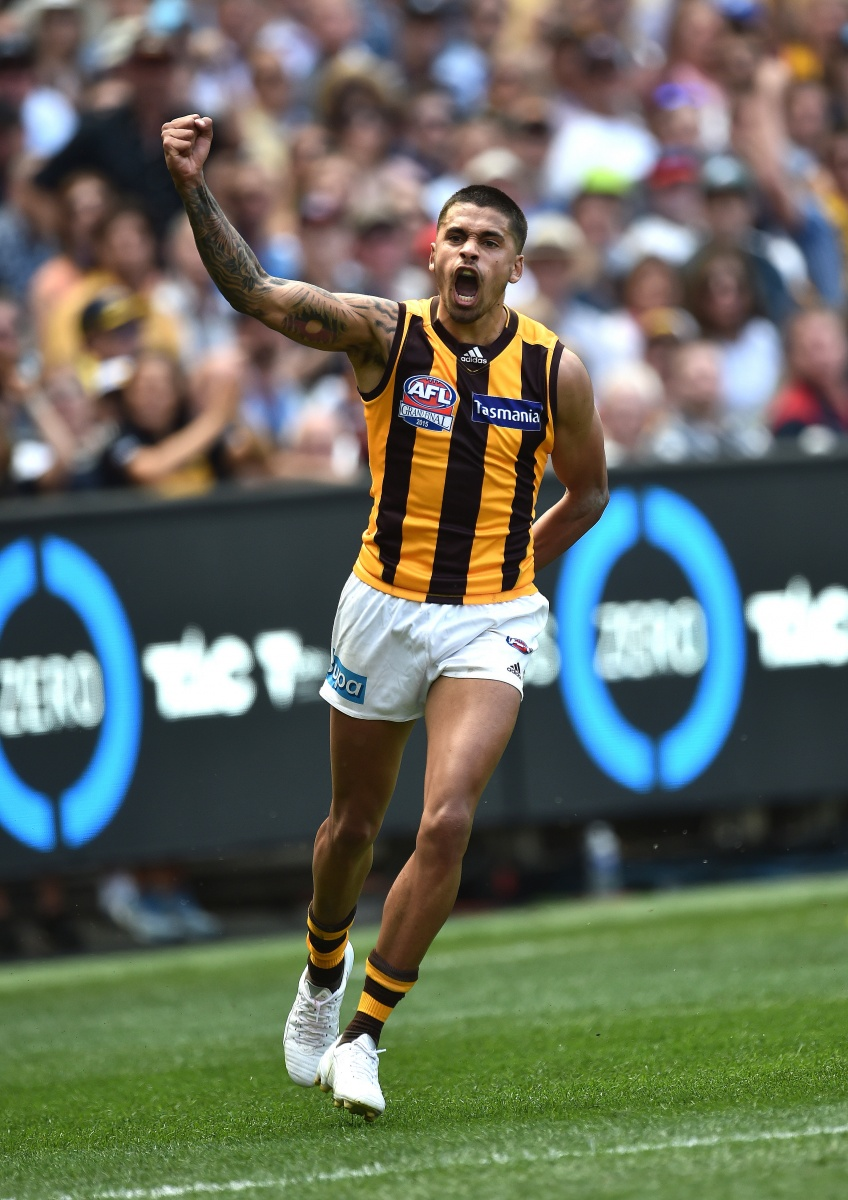 Bradley Hill's goal caused Eagles heads to drop nearing quarter time. Photo: Getty