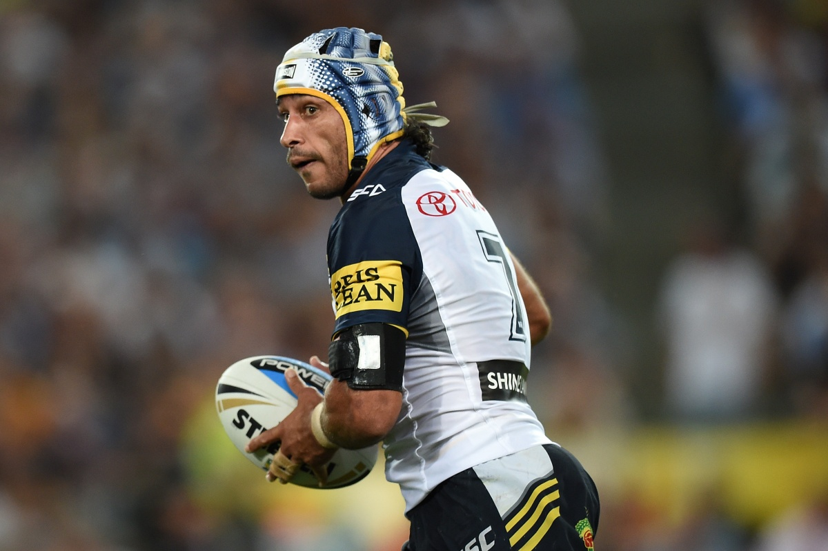 Kane Linnett fumbled a bullet-like pass from Thurston that could have proved costly. Photo: AAP