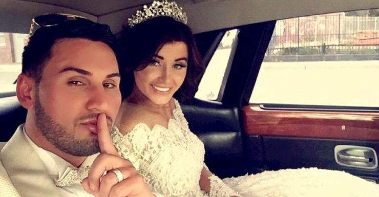 Salim Mehajer and wife Aysha at their August 2015 wedding.