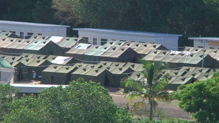 An aerial shot of Nauru.