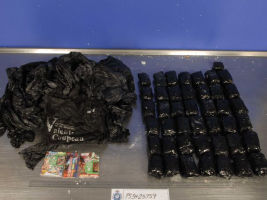 Police seized 10kg of ice en route to the Canberra suburb of Kaleen.