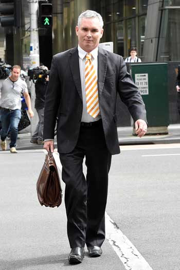 Former HSU national secretary Craig Thomson leaves a court hearing in February. Photo: AAP