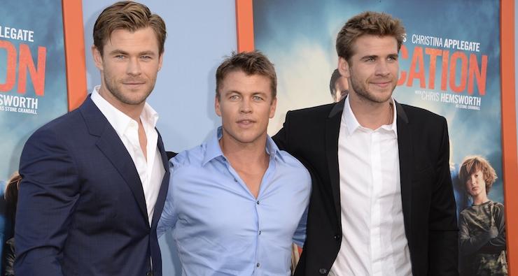 (L-R) Brothers Chris, Luke and Liam Hemsworth.