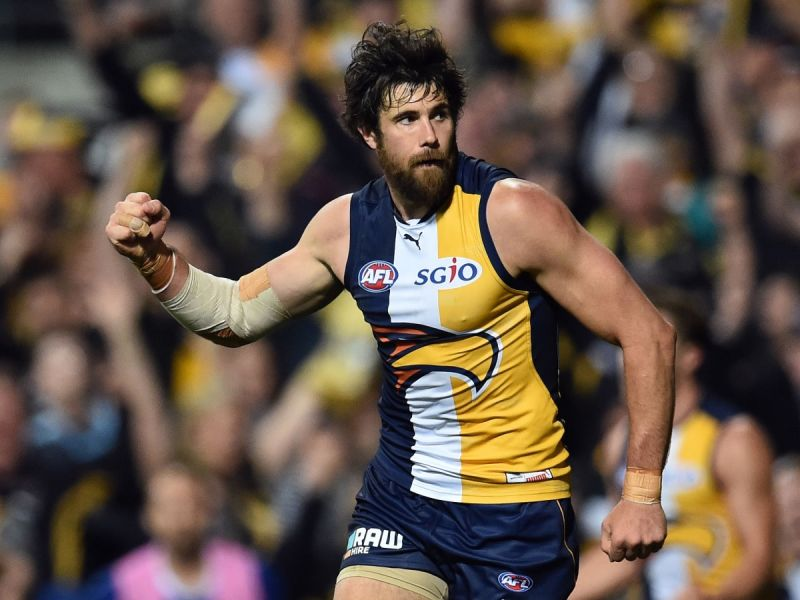 The Eagles' star player Josh Kennedy