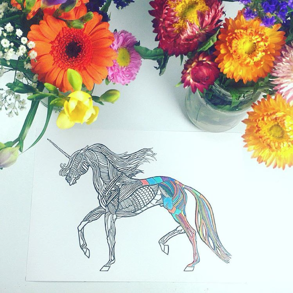 Colouring books are rising trend on social media site Instagram.