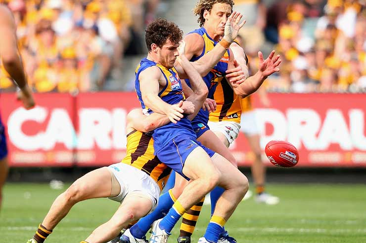 Luke Shuey had a day to forget. Photo: Getty