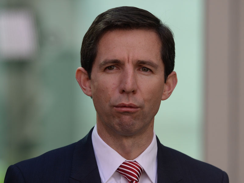 Simon Birmingham says universities need certainty.