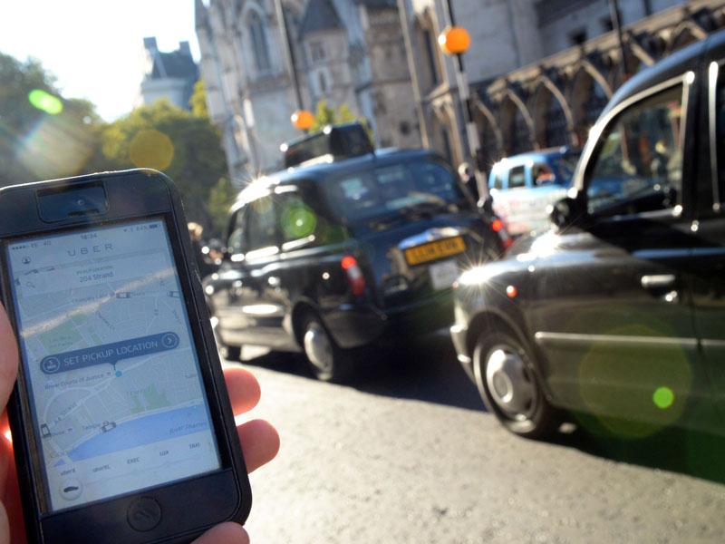 Fleet Street Uber protest