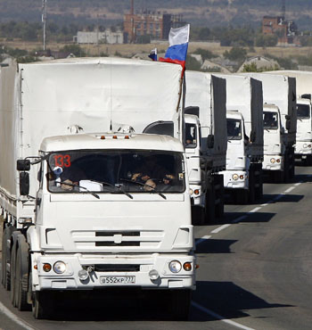 Weapons transports have been disguised as humanitarian convoys.