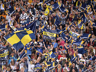 BRISBANE, AUSTRALIA - SEPTEMBER 12: Cowboys fans show their support during the NRL Qualifying Final match between the Brisbane Broncos and the North Queensland Cowboys at Suncorp Stadium on September 12, 2015 in Brisbane, Australia. (Photo by Bradley Kanaris/Getty Images)