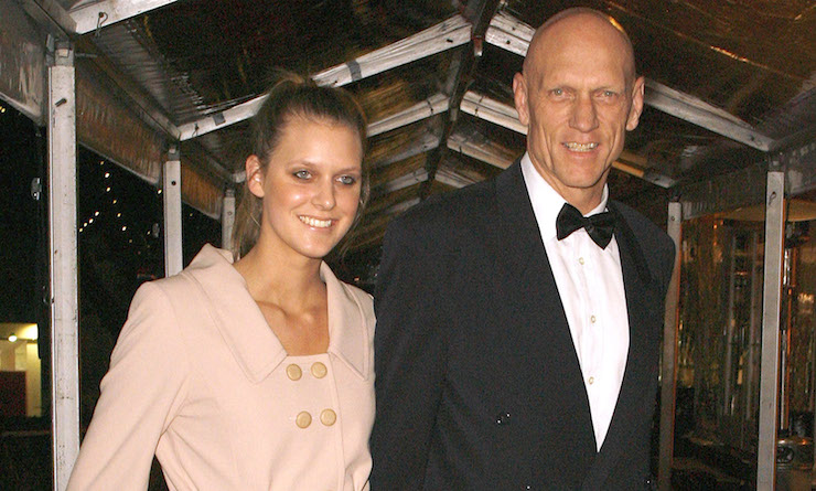 With daughter Grace in 2008.