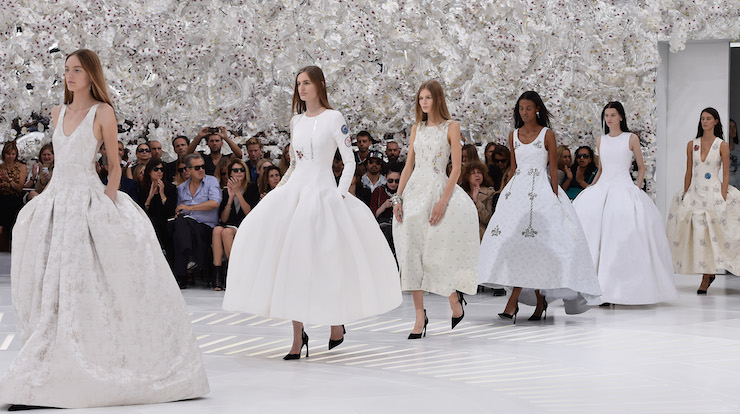 Christian Dior haute couture on the runway in 2014.